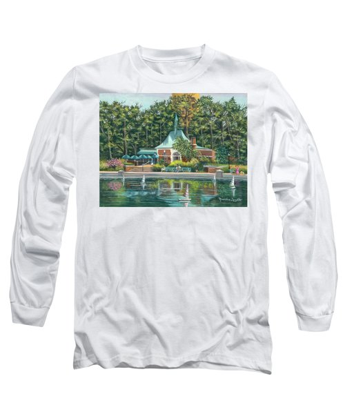 Boathouse In Central Park, N.y. Long Sleeve T-Shirt