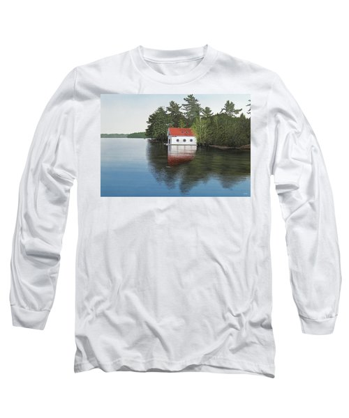 Boathouse Long Sleeve T-Shirt by Kenneth M  Kirsch