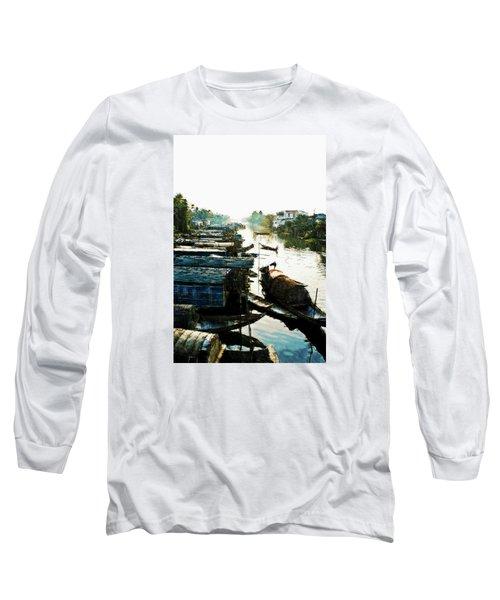 Boathouses In Vietnam Long Sleeve T-Shirt