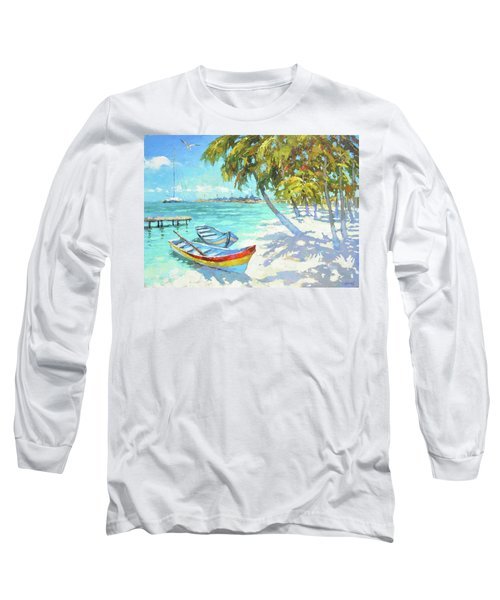 Boats  Long Sleeve T-Shirt by Dmitry Spiros