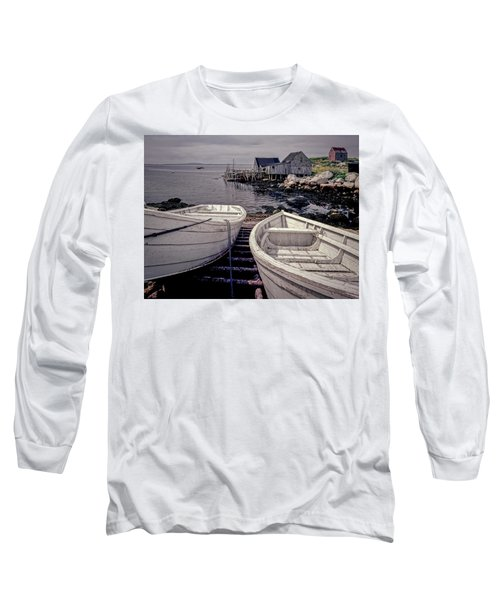 Boats Near Peggys Cove Long Sleeve T-Shirt
