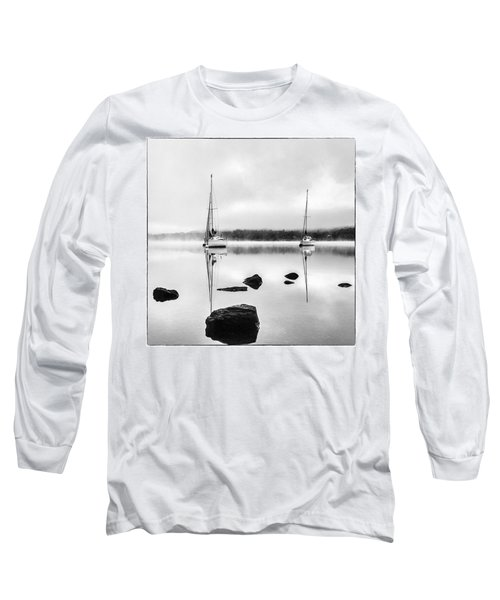 Boats On Ullswater In The Lake District Long Sleeve T-Shirt