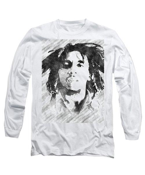 Bob Marley Bw Portrait Long Sleeve T-Shirt