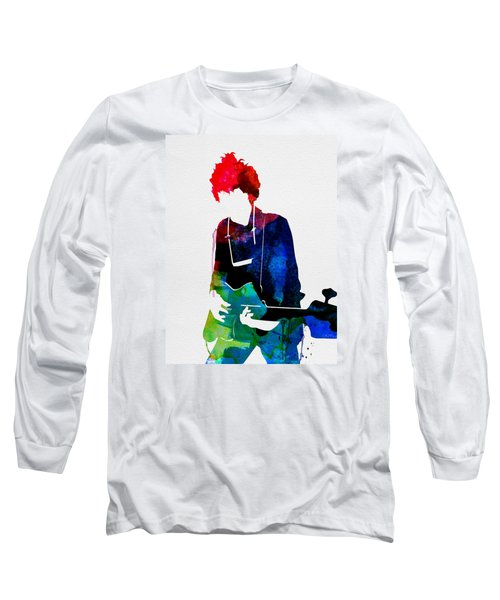 Bob Watercolor Long Sleeve T-Shirt by Naxart Studio
