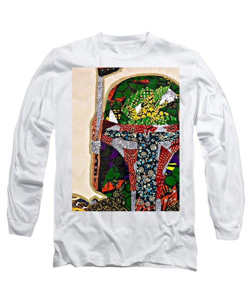Boba Fett Star Wars Afrofuturist Collection Long Sleeve T-Shirt by Apanaki Temitayo M