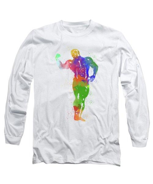 Bodybuilder Watercolor 1 Long Sleeve T-Shirt
