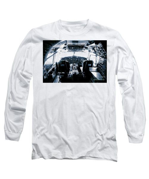 Long Sleeve T-Shirt featuring the photograph Boeing 747 Cockpit 22 by Micah May