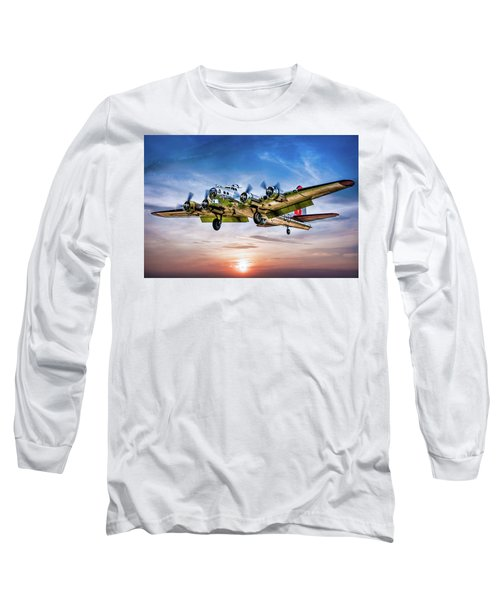 Long Sleeve T-Shirt featuring the photograph Boeing B17g Flying Fortress Yankee Lady by Chris Lord