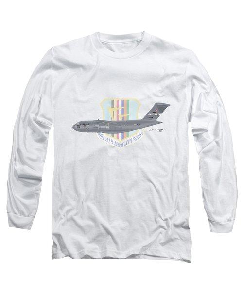 Long Sleeve T-Shirt featuring the digital art Boeing C-17 Globemaster IIi Travis Afb by Arthur Eggers