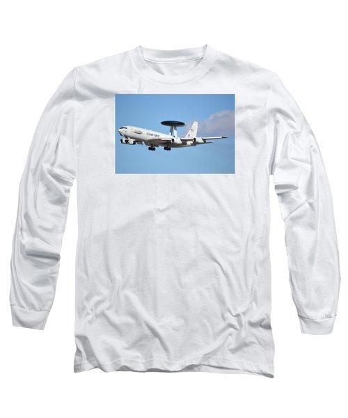 Boeing E-3b 71-1407 Sentry Phoenix Sky Harbor January 9 2015 Long Sleeve T-Shirt by Brian Lockett