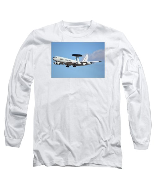 Boeing E-3b 71-1407 Sentry Phoenix Sky Harbor January 9 2015 Long Sleeve T-Shirt
