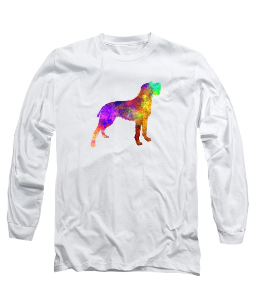Bohemian Wirehaired Pointing Griffon In Watercolor Long Sleeve T-Shirt