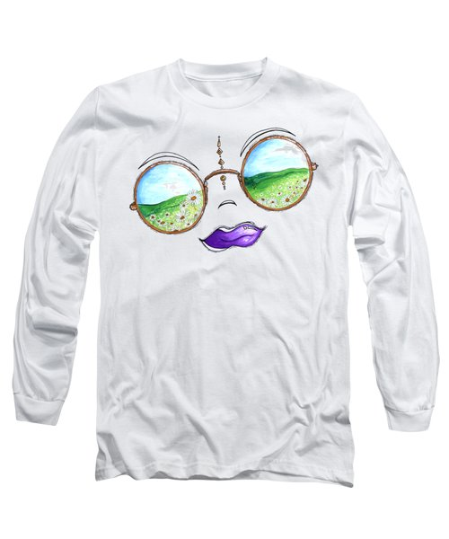 Boho Gypsy Daisy Field Sunglasses Reflection Design From The Aroon Melane 2014 Collection By Madart Long Sleeve T-Shirt