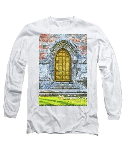 Long Sleeve T-Shirt featuring the photograph Bok Tower Door by Deborah Benoit