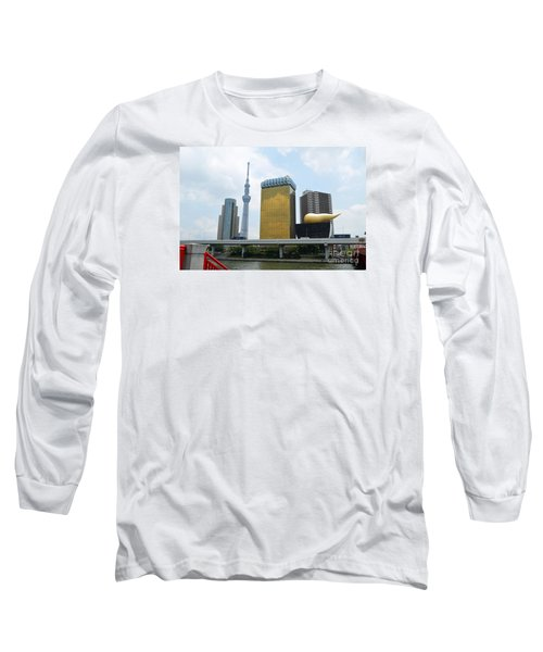 Long Sleeve T-Shirt featuring the digital art Tokyo Bokutei Dori  by Eva Kaufman