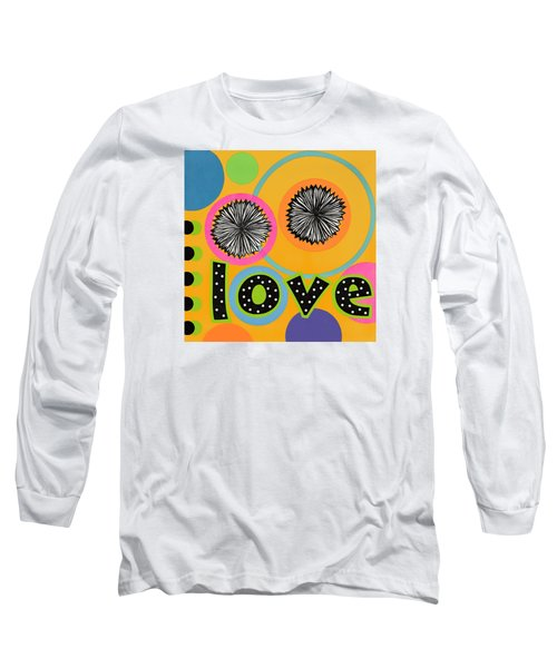 Long Sleeve T-Shirt featuring the mixed media Bold Love by Gloria Rothrock