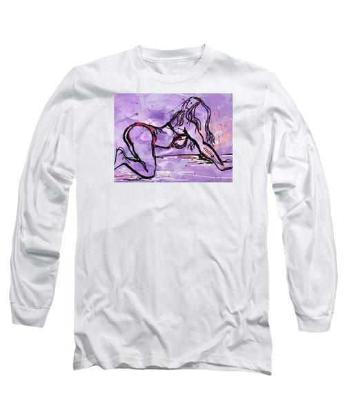 Bold Woman  Long Sleeve T-Shirt by Erika Pochybova
