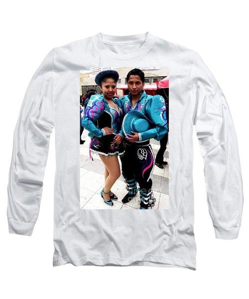 Bolivian Couple Dancers Long Sleeve T-Shirt