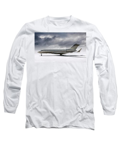 Bombardier Global 5000 Long Sleeve T-Shirt by Douglas Pittman