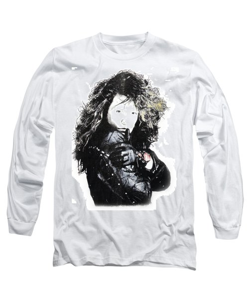 Long Sleeve T-Shirt featuring the digital art Bon Jovi by Gina Dsgn