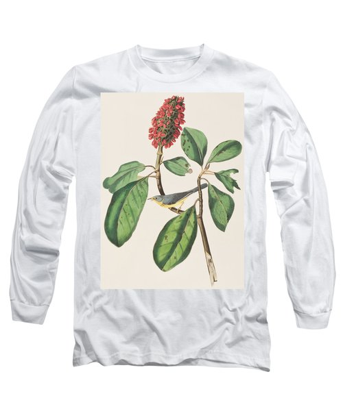 Bonaparte's Flycatcher Long Sleeve T-Shirt by John James Audubon