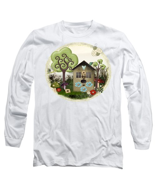 Bonnie Memories Whimsical Mixed Media Long Sleeve T-Shirt by Sharon and Renee Lozen