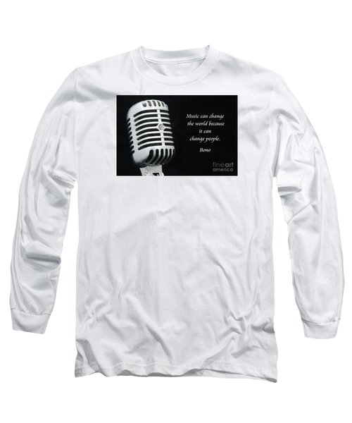 Bono On Music Long Sleeve T-Shirt by Paul Ward