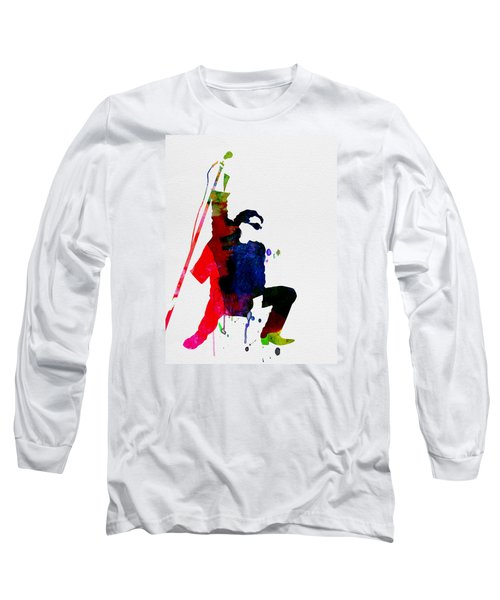 Bono Watercolor Long Sleeve T-Shirt by Naxart Studio