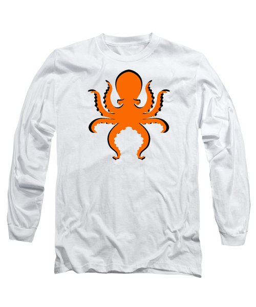 Long Sleeve T-Shirt featuring the photograph Boo The Big Orange Octopus  by Edward Fielding