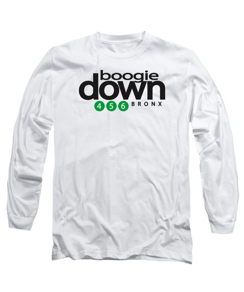 Boogie Down White Long Sleeve T-Shirt