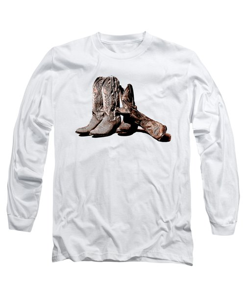 Boot Friends White Background Long Sleeve T-Shirt