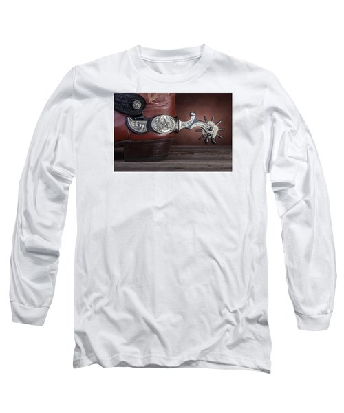 Boot Heel With Texas Spur Long Sleeve T-Shirt