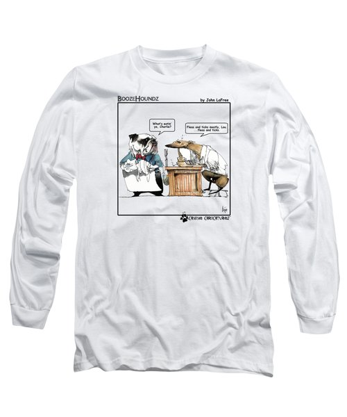 Boozehoundz #1 Fleas Long Sleeve T-Shirt