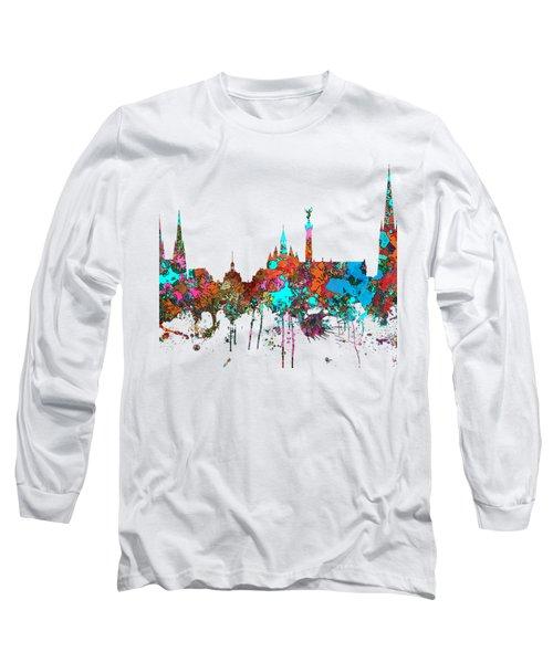 Bordeaux France  Skyline  Long Sleeve T-Shirt by Marlene Watson