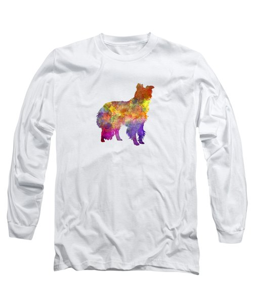 Border Collie In Watercolor Long Sleeve T-Shirt by Pablo Romero