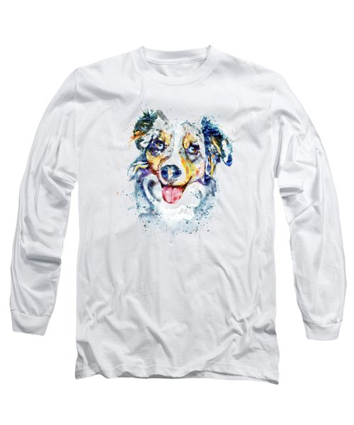 Border Collie  Long Sleeve T-Shirt by Marian Voicu