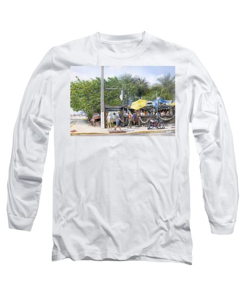 Long Sleeve T-Shirt featuring the painting Bos Fish Wagon by Bob George