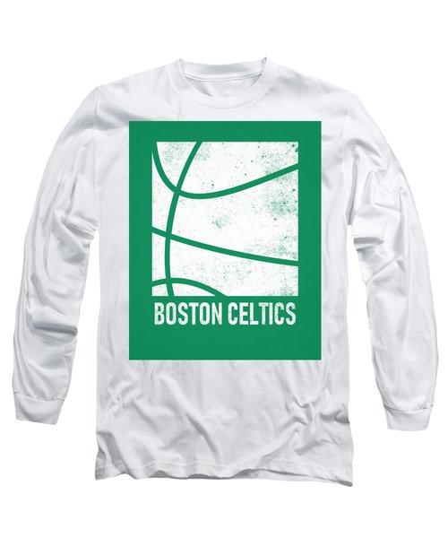 Boston Celtics City Poster Art 2 Long Sleeve T-Shirt