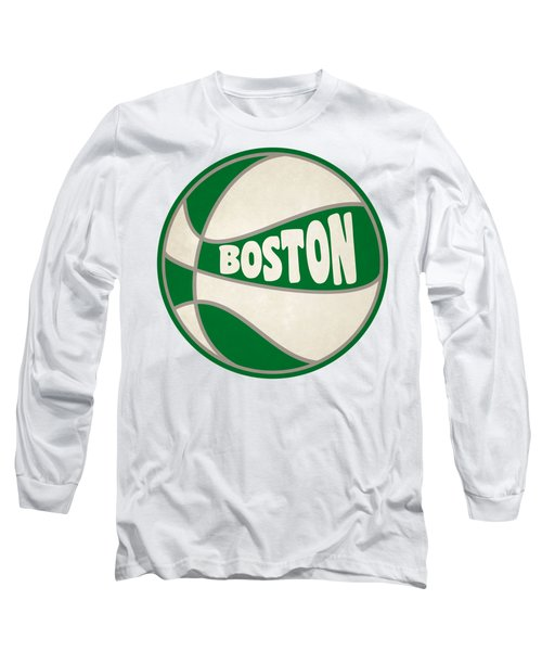 Boston Celtics Retro Shirt Long Sleeve T-Shirt by Joe Hamilton