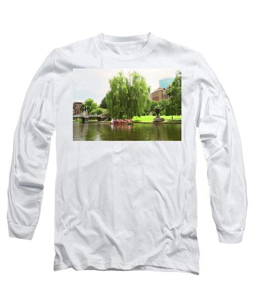Boston Garden Swan Boat Long Sleeve T-Shirt