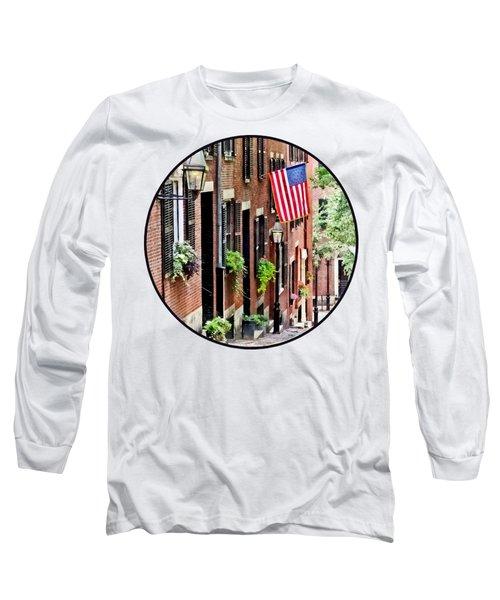 Boston Ma - Acorn Street Long Sleeve T-Shirt