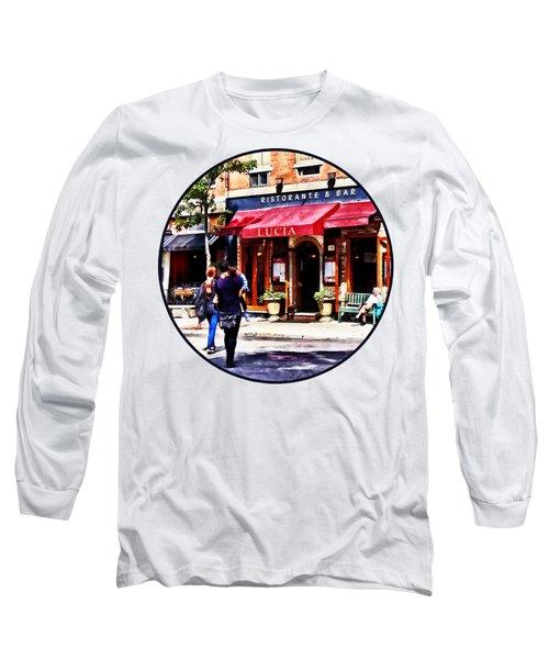 Boston Ma - Hanover Street North End Long Sleeve T-Shirt