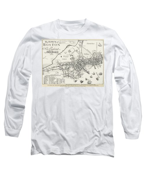 Boston Map, 1722 Long Sleeve T-Shirt