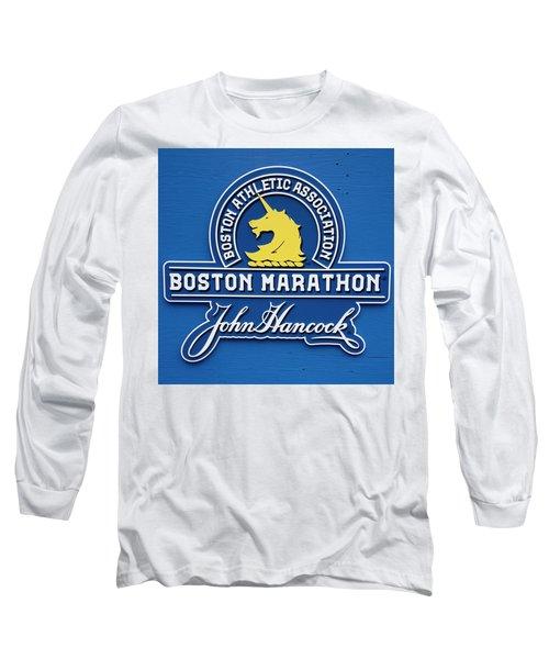 Long Sleeve T-Shirt featuring the photograph Boston Marathon - Boston Athletic Association by Joann Vitali