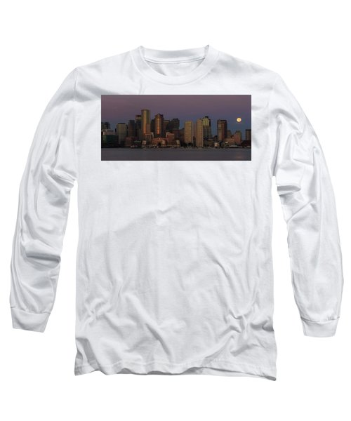 Boston Moonset And Sunrise Long Sleeve T-Shirt
