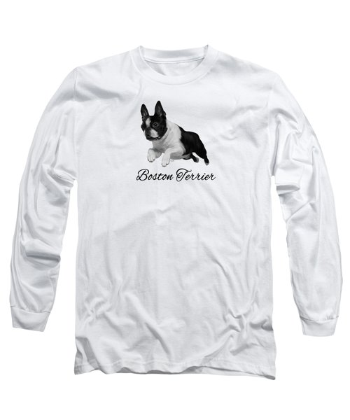 Boston Terrier Long Sleeve T-Shirt by Ann Lauwers
