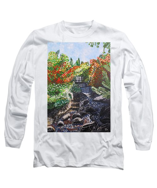 Botanic Garden Merano 1 Long Sleeve T-Shirt by Valerie Ornstein