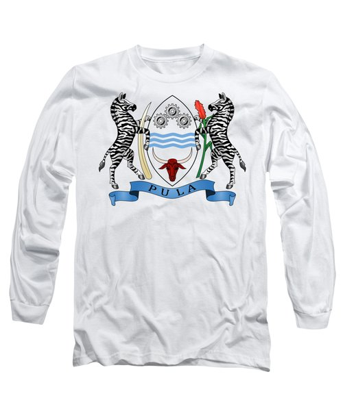 Botswana Coat Of Arms Long Sleeve T-Shirt by Movie Poster Prints