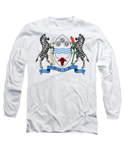 Botswana Coat Of Arms Long Sleeve T-Shirt