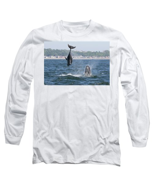 Long Sleeve T-Shirt featuring the photograph Bottlenose Dolphins - Moray Firth Scotland #46 by Karen Van Der Zijden